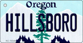 Hillsboro Oregon State License Plate Key Chain KC-10348
