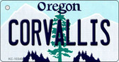 Coroallis Oregon State License Plate Key Chain KC-10349