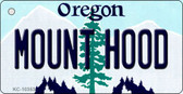 Mount Hood Oregon State License Plate Novelty Key Chain KC-10353