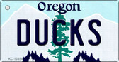 Ducks Oregon State License Plate Key Chain KC-10354