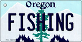 Fishing Oregon State License Plate Key Chain KC-10369