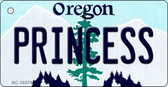 Princess Oregon State License Plate Key Chain KC-10374