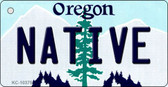 Native Oregon State License Plate Key Chain KC-10375