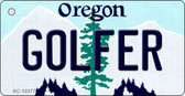 Golfer Oregon State License Plate Key Chain KC-10377