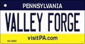 Valley Forge Pennsylvania State License Plate Key Chain KC-6052