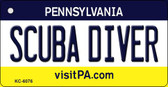 Scuba Diver Pennsylvania State License Plate Key Chain KC-6076