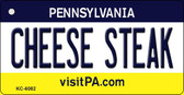 Cheese Steak Pennsylvania State License Plate Key Chain KC-6082