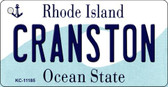 Cranston Rhode Island License Plate Novelty Key Chain KC-11185