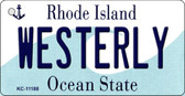 Westerly Rhode Island License Plate Novelty Key Chain KC-11188