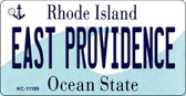 East Providence Rhode Island License Plate Novelty Key Chain KC-11189