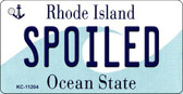 Spoiled Rhode Island License Plate Novelty Key Chain KC-11204