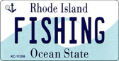Fishing Rhode Island License Plate Novelty Key Chain KC-11206