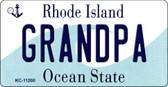 Grandpa Rhode Island License Plate Novelty Key Chain KC-11200