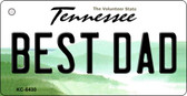 Best Dad Tennessee License Plate Key Chain KC-6430