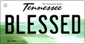 Blessed Tennessee License Plate Key Chain KC-6431