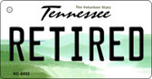 Retired Tennessee License Plate Key Chain KC-6432