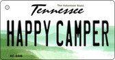 Happy Camper Tennessee License Plate Key Chain KC-6446