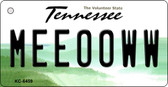 Meeooww Tennessee License Plate Key Chain KC-6459
