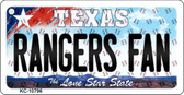 Rangers Fan Texas State License Plate Key Chain KC-10796
