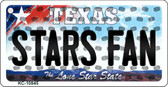 Stars Fan Texas State License Plate Key Chain KC-10845