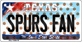 Spurs Fan Texas State License Plate Key Chain KC-10874