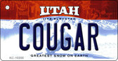 Cougar Utah State License Plate Key Chain KC-10200