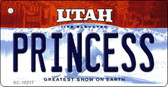 Princess Utah State License Plate Key Chain KC-10217