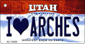 I Love Arches Utah State License Plate Key Chain KC-10235