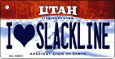 I Love Slackline Utah State License Plate Key Chain KC-10237