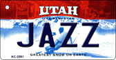 Jazz Utah State License Plate Key Chain KC-2591
