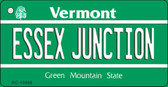 Essex Junction Vermont License Plate Novelty Key Chain KC-10668