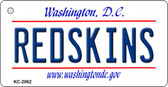 Redskins Washington DC State License Plate Key Chain KC-2062