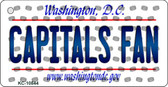 Capitals Fan Washington DC State License Plate Key Chain KC-10844