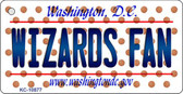 Wizards Fan Washington DC State License Plate Key Chain KC-10877