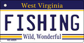 Fishing West Virginia License Plate Key Chain KC-6525