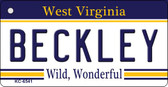 Beckley West Virginia License Plate Key Chain KC-6541