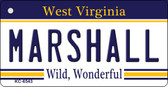 Marshall West Virginia License Plate Key Chain KC-6543