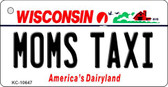 Moms Taxi Wisconsin License Plate Novelty Key Chain KC-10647