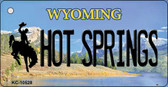 Hot Springs Wyoming State License Plate Key Chain KC-10528