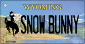 Snow Bunny Wyoming State License Plate Key Chain KC-10534