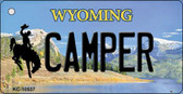 Camper Wyoming State License Plate Key Chain KC-10537