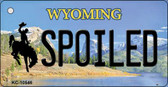 Spoiled Wyoming State License Plate Key Chain KC-10546