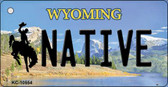 Native Wyoming State License Plate Key Chain KC-10554