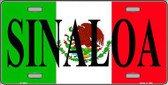 Sinaloa Metal Novelty License Plate LP-3433