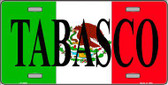 Tabasco Metal Novelty License Plate LP-3435