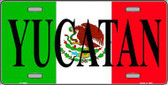 Yucatan Metal Novelty License Plate LP-3440