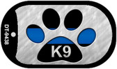 K9 Police Novelty Dog Tag Necklace DT-9438