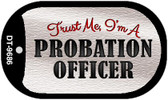 Probation Officer Novelty Dog Tag Necklace DT-9686