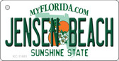 Jensen Beach Florida State License Plate Key Chain KC-11691