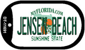 Jensen Beach Florida Novelty Dog Tag Necklace DT-11691